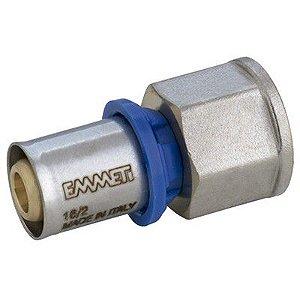 Conector Fêmea para Água 20mm X 3/4 -  Prensar Emmeti