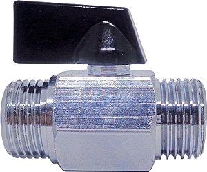 """Válvula Esfera Micro M/M 1/4"""" Polegada  ÁGUA/AR  SFERA EMMETI"""