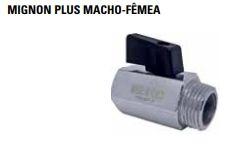 "Válvula Esfera Micro M/F  1/4"" Polegada  ÁGUA/AR  SFERA EMMETI"