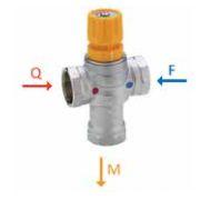 """Válvula Misturadora Termostática para Água Sanitária de Instalação 1/2"""" Polegada F Emmeti"""