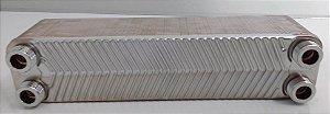 """Trocador de Calor Com Solda Por Fricção 40 Placas 3/4"""" M  SPES 210  Emmeti"""
