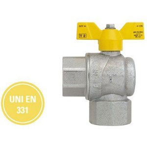 "Válvula Esfera F/F Angular Borboleta Alumínio 3/4"" Polegada X 3/4"" Futurgás - Emmeti"