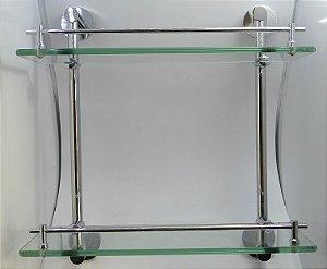 Porta Shampoo Duplo Vidro