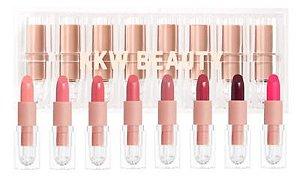 KKW Beauty Pink Creme Lipstick Set - 8 batons de tamanho regular