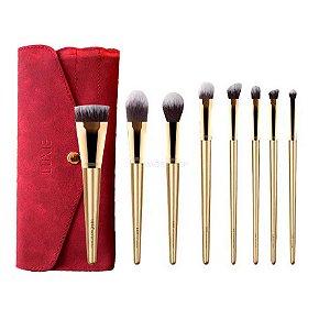 LUXIE Glitter and Gold Brush Set PINCÉIS DE TAMANHO REGULAR