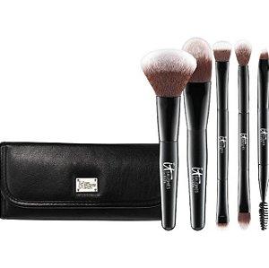 IT cosmetics Brushes For ULTA  Your Multi-Tasker Deluxe Dual-Ended Travel Brush Set 5 mini pincéis