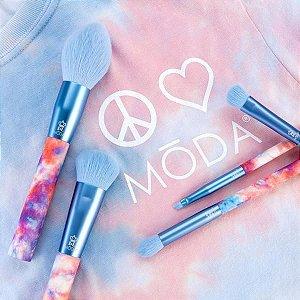 MODA Dreamy Blue Tie Dye Makeup Brush Set 5 PINCÉIS