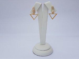 Brinco Pêndulo Triangular Pj136-Hb0 Dourado