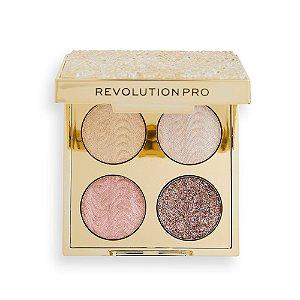 Revolution Pro Crystal Eye Quad - Champagne Crystal quarteto de sombras