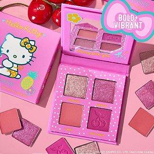 Cherry Sweet COLOURPOP quarteto de sombras coleção HELLO KITTY