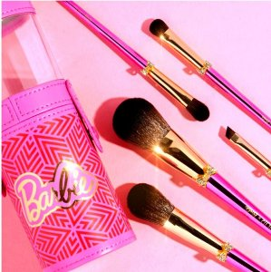 Pur X Barbie Brush N Sparkle Brush Set 5 Pincéis
