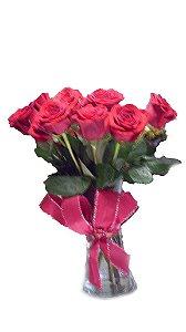 Vaso com Rosas Vermelhas