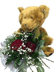 Urso com Anjo de Rosas