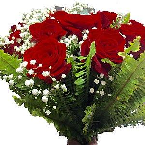 Buque de Rosas Vermelhas-Embalagem luxo