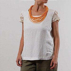 Blusa  Plus Size de Linho Pérola