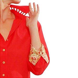 Camisa Plus Size de Linho Pitanga