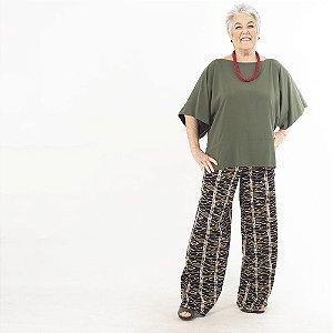 Calça Pantalona Plus Size de Viscose África