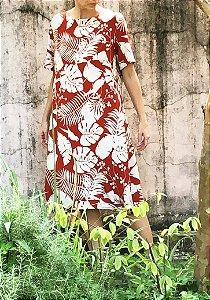 Vestido Riviera Abóbora Florido