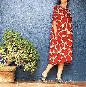 Vestido Riviera Girafa Vinho