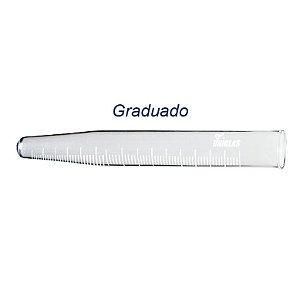TUBO DE VIDRO CONICO PARA CENTRIFUGA 50ML GRADUADO