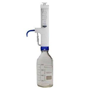 FRASCO DE VIDRO NEUTRO 1L COM REPIPETADOR DE PLASTICO (PP) 1 A 20ML