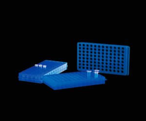 RACK DUPLA FACE PARA 60 MICROTUBOS DE 0,5/1,5/2,0ML AZUL