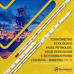 TERMOMETRO BICOMBUSTIVEL INMETRO CONF. PORTARIA 424 -10+50 GRADUACAO 0,5ºC LIQUIDO VERMELHO