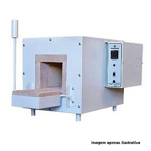FORNO MUFLA A VACUO 7L TEMPERATURA 1200°C DIMENSOES INTERNAS 150X350X150MM