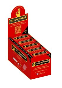 CAIXA PITEIRA DE PAPEL YELLOW FINGER BIG BROWN