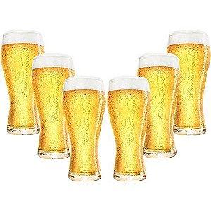 Copo Cerveja Budweiser 400ml - Caixa com 6 und