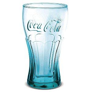 Copo Contour Coca-Cola Azul 473ml Cisper - Cx com 6 und
