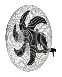 Ventilador De Parede Preto Ventisilva Com 6 pás VPL 65 cm Grade Cromada