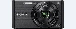 Câmera Digital Sony W830 20.1MP 8x Zoom Óptico Foto panorâmica Vídeos HD Lentes Carl Zeiss