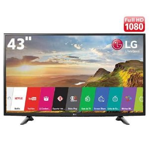 "Smart TV LED 43"" LG 43LJ5500 Full HD com Conversor Digital Integrado Wi-Fi 2 HDMI 1 USB"