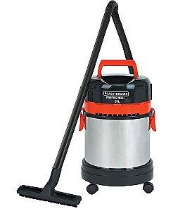 Aspirador Pó E Água 20 Litros Inox AP4850  Black & Decker