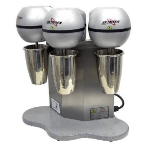 Batedor de Milk Shake com Copo em Inox e 3 Hastes Skymsen BMS-3-N