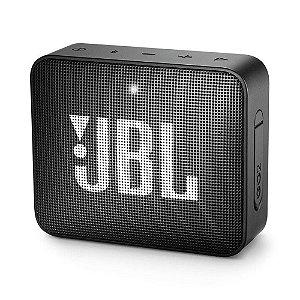 Caixa de Som Portátil Go 2 JBL com Bluetooth e à Prova d´Água Bivolt Black