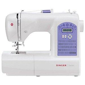 Máquina de Costura Singer 74 Pontos Branca/Roxa Starlet 6680