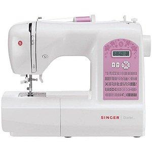 Máquina de Costura Eletrônica Singer Starlet Branca/Rosa 6699
