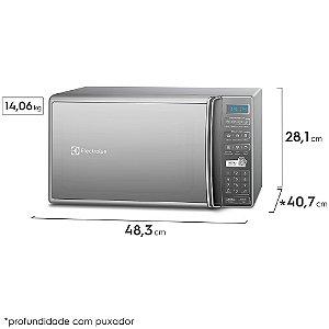 Micro-ondas Electrolux com 27L Função Tira Odor Prata - MS37R