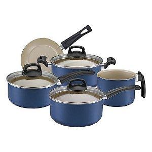 Conjunto de Panelas 5 Peças Azul Premium - Panelux