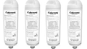 Kit 4 unidades Refil Filtro Purificador Água Colormaq - 4 peças
