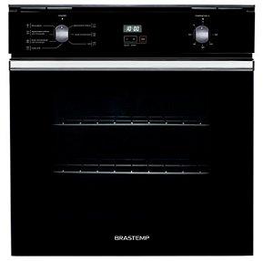 Forno de embutir Brastemp 84L preto c/ Convecção e Timer Touch 220V - BOC84AE