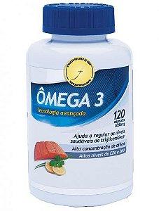 Ômega 3, Tecnologia Avançada, ajuda a regular os níveis saudáveis de triglicerídeos, alta concentração de ativos, altos níveis de EPA e DHA, 120 cápsulas, produto nacional