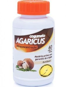 Cogumelos Agaricus, ultraconcentrado, rico em fibras, B d Glucan, 60 cápsulas