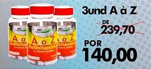 Combo A-Z vitaminas e minerais, produto nacional