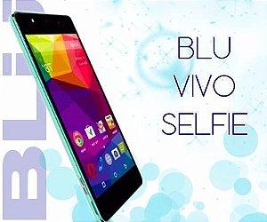 """Smartphone BLU Vivo Selfie V030U conexão 3G dois chips tela 4.8"""" 8GB de capacidade Camera de 8MP sem taxa de importação frete grátis entrega em até 20 dias"""