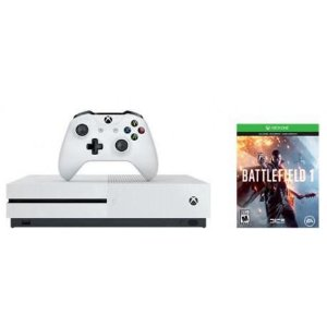 Console Xbox One S 500GB mais Jogo Battlefield 1 (via download Xbox Live)  -  Bivolt - Branco
