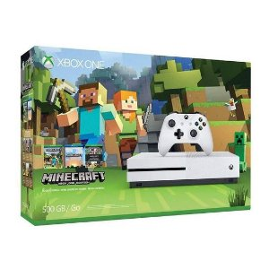 Console Slim Xbox One S 500GB Bivolt Minecraft