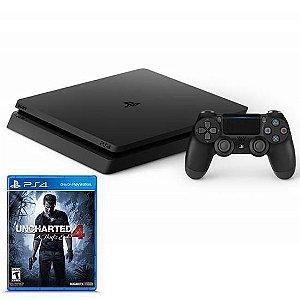 Console Playstation 4 500GB c/Jogo Uncharte Sony Preto